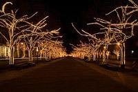 Подключение освещения зданий в Калтане